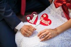 Piruletas de las bodas Fotos de archivo