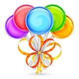 Piruletas del color Imágenes de archivo libres de regalías