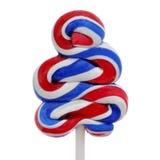Pirulito com as cores da bandeira do Estados Unidos Imagem de Stock Royalty Free
