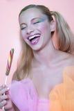 Pirulito da composição e do redemoinho do arco-íris Imagem de Stock