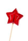 Pirulito dado forma estrela isolado no branco Fotos de Stock Royalty Free