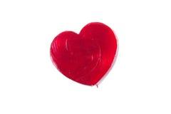 Pirulito do coração do dia de Valentim isolado foto de stock royalty free