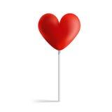 Pirulito do coração do projeto Fotografia de Stock