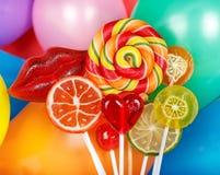Pirulitos coloridos brilhantes Imagens de Stock