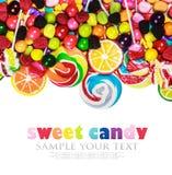 Pirulitos coloridos, doces e pastilha elástica Fotos de Stock Royalty Free