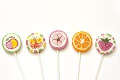 Pirulitos coloridos dos doces Imagem de Stock