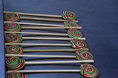 Pirulitos coloridos saborosos Fotografia de Stock
