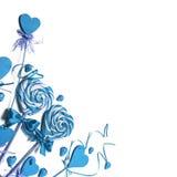 Pirulitos do coração no branco Fotos de Stock Royalty Free