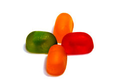 Pirulitos dos doces isolados no branco Fotos de Stock