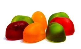 Pirulitos dos doces isolados no branco Imagem de Stock