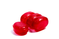 Pirulitos dos doces no branco Imagens de Stock