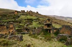 Piruro pre Columbian ruins near Tantamayo, Peru, Stock Images