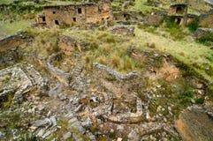 Piruro pre Columbian ruins near Tantamayo, Peru, Royalty Free Stock Photos