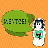 Pisać nutowego pokazuje mentora Biznesowa fotografia pokazuje osoby która daje radzie lub poparciu młody mniej doświadczony ilustracji