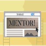 Pisać nutowego pokazuje mentora Biznesowa fotografia pokazuje osoby która daje radzie lub poparciu młody mniej doświadczony royalty ilustracja