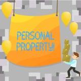 Pisać nutowemu seansowi Osobistej własności Biznesowa fotografia pokazuje należeń posiadań wartości osoby prywatnej właściciela ilustracja wektor