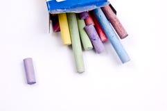 pisać kredą kolorowego Obrazy Royalty Free