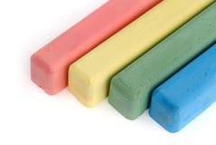 pisać kredą kolorowego Zdjęcie Stock
