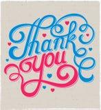 Pisać list dziękuje ciebie Obraz Stock