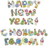 Pisać list projekt Szczęśliwi nowy rok powitania royalty ilustracja