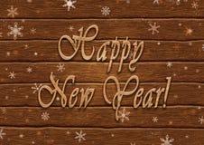 Pisać list Szczęśliwego nowego roku na tle deski Obraz Stock