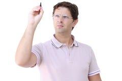Pisać mężczyzna organizuje - planujący - Zdjęcia Stock
