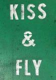 Pisać na asfalcie, parkujący buziaka i komarnicy, Zdjęcia Stock