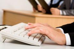 pisać na maszynie obraz stock