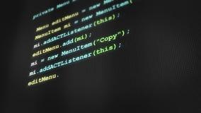 Pisać na maszynie czysty nowożytny oprogramowanie kod na ekranie komputerowym V3 zdjęcie wideo