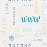 Pisać na maszynie Deseniową sieci ikonę bezszwową Fotografia Royalty Free