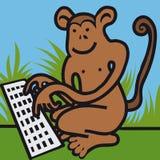Pisać na maszynie małpa Obrazy Royalty Free
