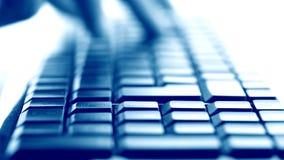 Pisać na maszynie na klawiaturze zdjęcie wideo