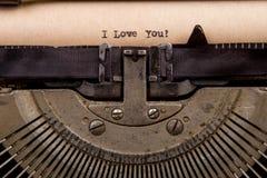 pisać na maszynie słowa na rocznika maszyna do pisania Zdjęcie Royalty Free