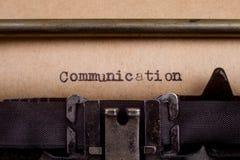 pisać na maszynie słowa na rocznika maszyna do pisania Fotografia Stock