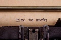 pisać na maszynie słowa na rocznika maszyna do pisania Obrazy Royalty Free
