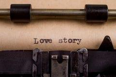 pisać na maszynie słowa na rocznika maszyna do pisania Zdjęcia Stock