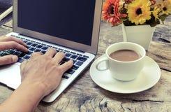Pisać na maszynie z klawiaturą, rocznik Zdjęcie Stock