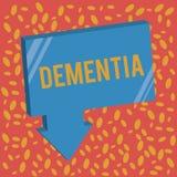 Pisać nutowej pokazuje demenci Biznesowa fotografia pokazuje nadszarpnięcie w pamięci stracie poznawcza funkcjonuje Móżdżkowa cho royalty ilustracja
