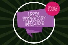 Pisać nutowej pokazuje Górnej Oddechowej infekcji Biznesowa fotografia pokazuje illnesses powodować ostrą infekcją ilustracji