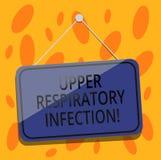 Pisać nutowej pokazuje Górnej Oddechowej infekcji Biznesowa fotografia pokazuje illnesses powodować ostrym infekcji pustym miejsc ilustracja wektor