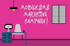 Pisać nutowej pokazuje Mobilnej Sms kampanii marketingowej Biznesowa fotografia pokazuje Reklamową komunikacyjną promocję ilustracji