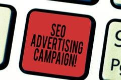 Pisać nutowej pokazuje Seo kampanii reklamowej Biznesowa fotografia pokazuje Promujący miejsce wzrastać liczbę zdjęcie royalty free