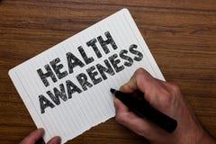 Pisać nutowej pokazuje zdrowie świadomości Biznesowa fotografia pokazuje Promujący społeczności zagadnienia i prewencyjnego akcja zdjęcia royalty free