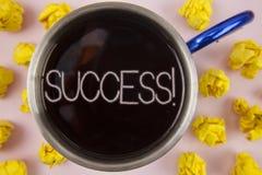 Pisać nutowemu pokazuje sukcesowi Motywacyjnym wezwaniu Biznesowa fotografia pokazuje osiągnięcia osiągnięcie niektóre purpose pi ilustracji