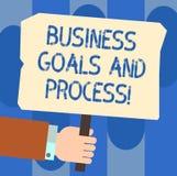 Pisać nutowemu seansowi Biznesowych celach I procesie Biznesowa fotografia pokazuje Pracujące strategie osiąga cele Hu royalty ilustracja