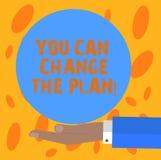 Pisać nutowemu seansowi Ciebie Może Zmieniać plan Biznesowy fotografii pokazywać Robi zmianom w twój planach osiągać cele royalty ilustracja