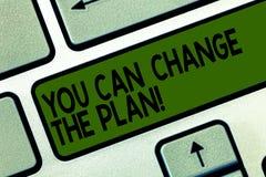 Pisać nutowemu seansowi Ciebie Może Zmieniać plan Biznesowy fotografii pokazywać Robi zmianom w twój planach osiągać cele ilustracja wektor