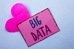 Pisać nutowemu seansowi Dużych dane Biznesowa fotografia pokazuje Ogromnego dane technologie informacyjne cyberprzestrzeni Bigdat Zdjęcie Royalty Free