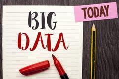Pisać nutowemu seansowi Dużych dane Biznesowa fotografia pokazuje Ogromnego dane technologie informacyjne cyberprzestrzeni Bigdat Obrazy Stock