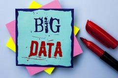 Pisać nutowemu seansowi Dużych dane Biznesowa fotografia pokazuje Ogromnego dane technologie informacyjne cyberprzestrzeni Bigdat Obraz Stock